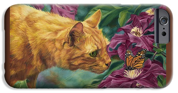 Orange Tabby iPhone Cases - Point Of Interest iPhone Case by Lucie Bilodeau