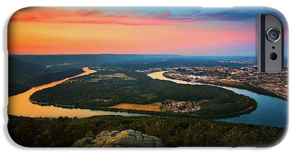 Tennessee River iPhone Cases - Point Park Overlook iPhone Case by Steven Llorca