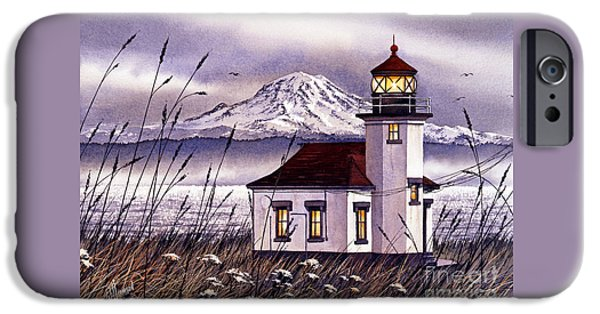 Lighthouse iPhone Cases - Point Robinson Lighthouse iPhone Case by James Williamson