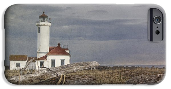 Lighthouse iPhone Cases - Point Wilson iPhone Case by Elena Nosyreva