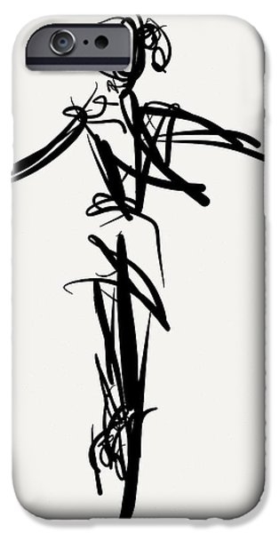 Ballet Drawings iPhone Cases - Pointe iPhone Case by Kevin Houchin
