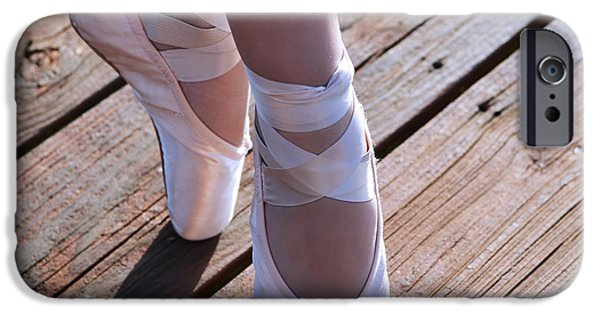 Dance Studio iPhone Cases - Pointe Shoes iPhone Case by Laura  Fasulo
