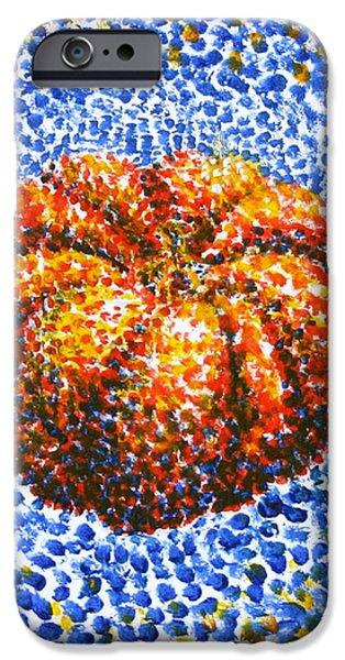 Pointillism Pumpkin iPhone Case by Samantha Geernaert