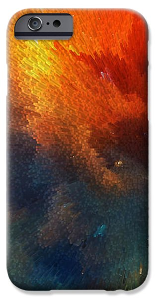 Texture iPhone Cases - Points Of Light Abstract Art By Sharon Cummings iPhone Case by Sharon Cummings