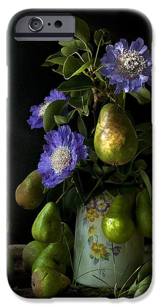 POIRES ET FLEURS iPhone Case by Theresa Tahara