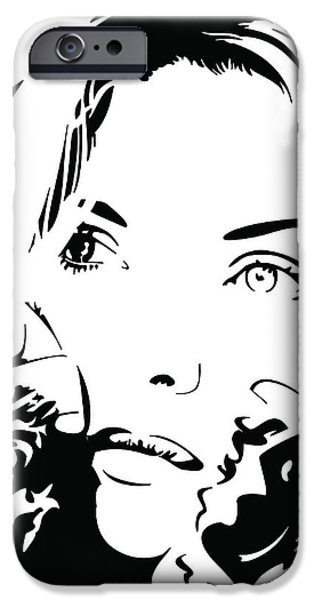 Michelle Pfeiffer iPhone Cases - Poise iPhone Case by David Guentert