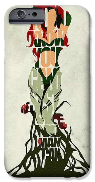 Nerd iPhone Cases - Poison Ivy iPhone Case by Ayse Deniz