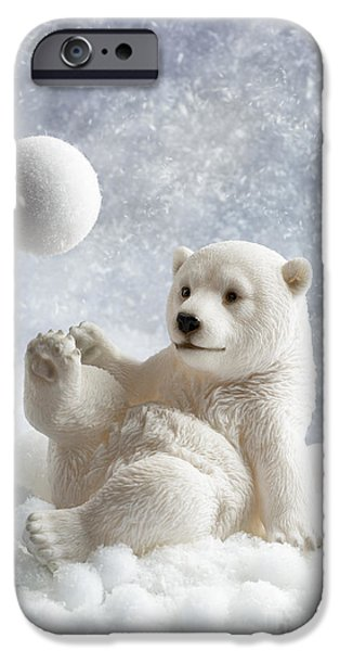 Snowy iPhone Cases - Polar Bear Decoration iPhone Case by Amanda And Christopher Elwell