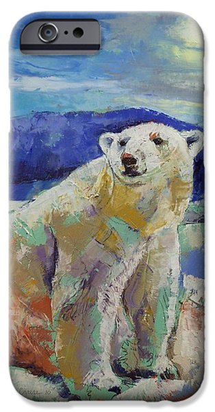Arctic iPhone Cases - Polar Bear Sun iPhone Case by Michael Creese