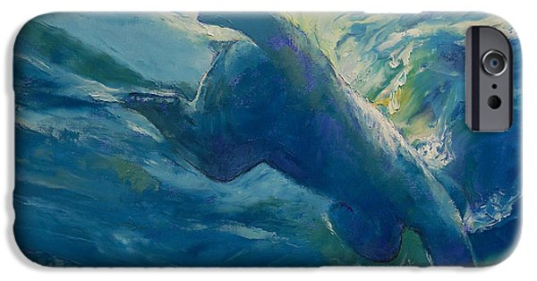 Michael iPhone Cases - Polar Bear Swim iPhone Case by Michael Creese