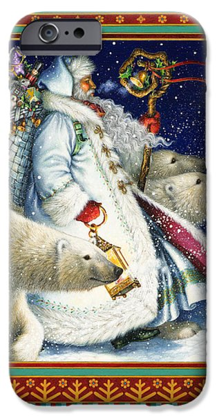 Santa iPhone Cases - Polar Magic iPhone Case by Lynn Bywaters