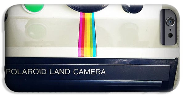 Polaroid iPhone Cases - Polaroid camera.  iPhone Case by Les Cunliffe