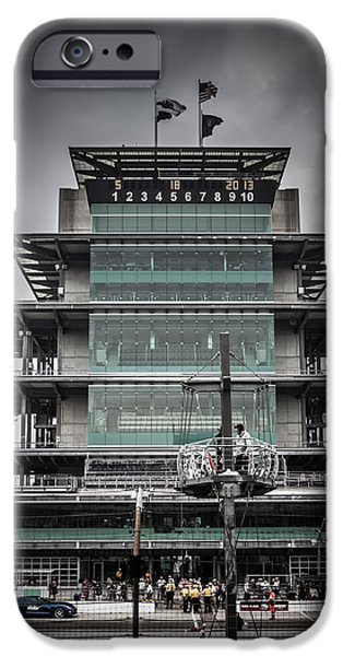 Indy Car iPhone Cases - Pole Day at the Indy 500 iPhone Case by Ron Pate