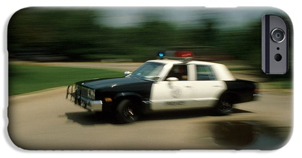 Police Car iPhone Cases - Police Car iPhone Case by Jerry McElroy
