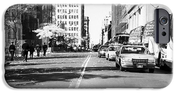Police Car iPhone Cases - Police Escort 1990s iPhone Case by John Rizzuto