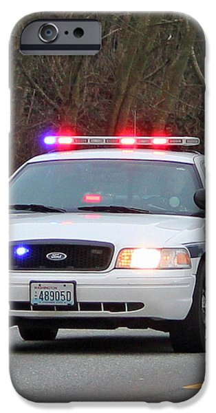 Police Escort iPhone Case by E Faithe Lester