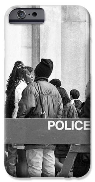 Police Line 1990s iPhone Case by John Rizzuto