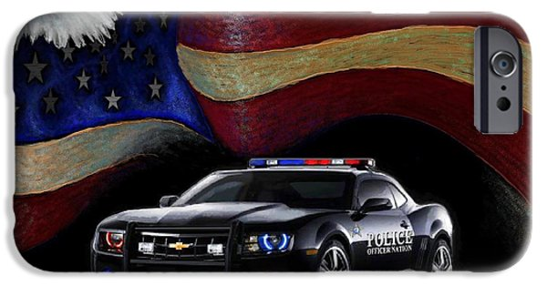 Police Officer iPhone Cases - Police Nation USA iPhone Case by Craig Green
