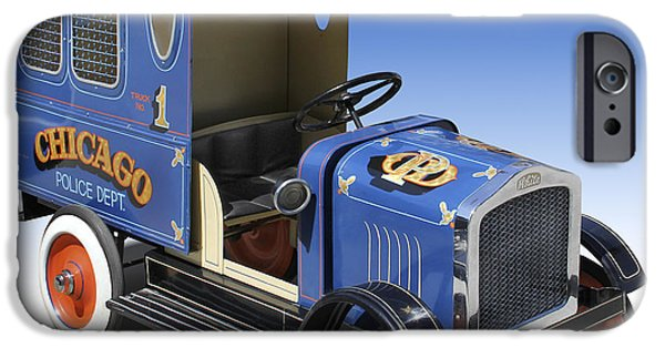 Police Art iPhone Cases - Police Peddle Car iPhone Case by Mike McGlothlen