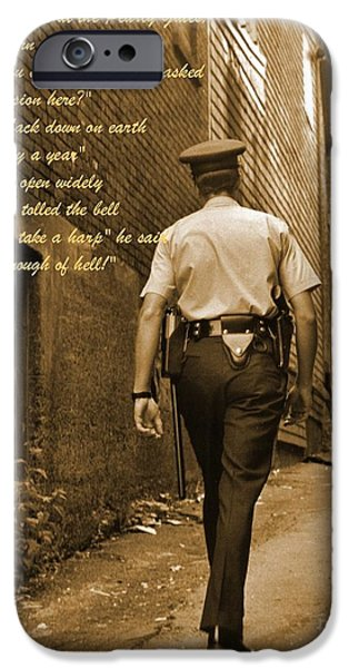 Police Art iPhone Cases - Police Poem iPhone Case by John Malone