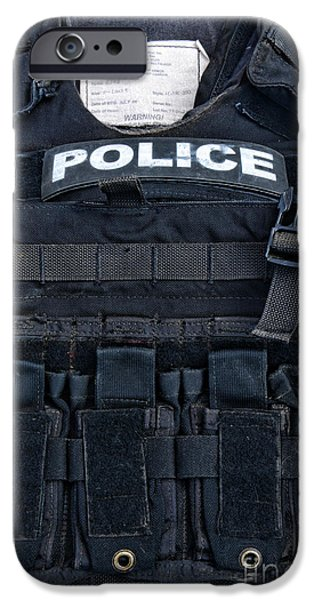 Police iPhone Cases - Police - The Tactical Vest iPhone Case by Paul Ward