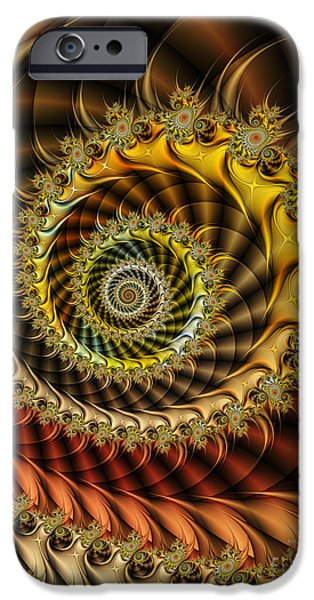 Fractal iPhone Cases - Polished Spiral iPhone Case by Karin Kuhlmann