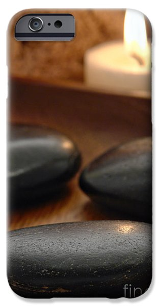 Polished Stones in a Spa iPhone Case by Olivier Le Queinec