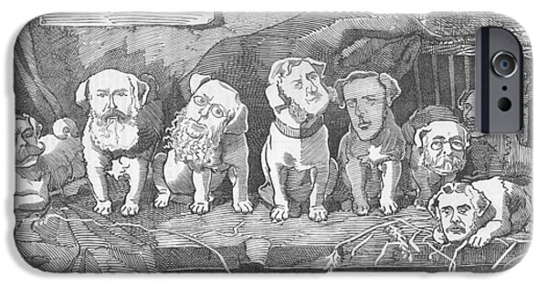 Conservative iPhone Cases - Political puppy class iPhone Case by Konni Jensen