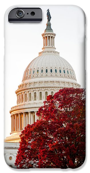 Smithsonian iPhone Cases - Politics Seeing Red iPhone Case by Greg Fortier