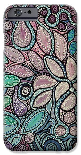 Polka Dot Flowers iPhone Case by Barbara St Jean