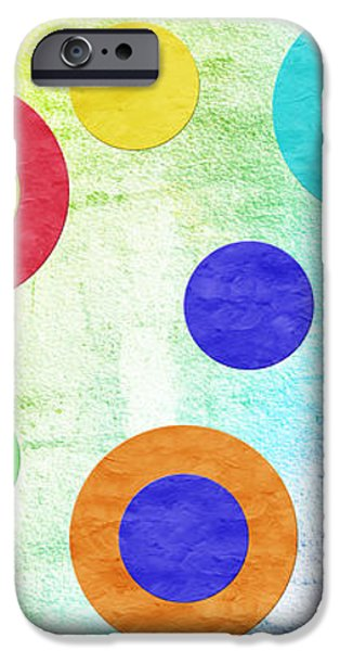 Polka Dot Panorama - Rainbow - Circles - Shapes iPhone Case by Andee Design