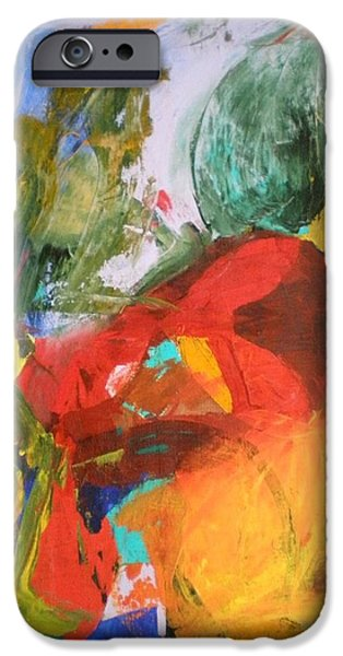 Dance Floor Paintings iPhone Cases - Polka iPhone Case by Ed Ciolina