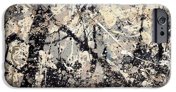 Cora Wandel iPhone Cases - Pollocks Name On Lavendar Mist iPhone Case by Cora Wandel