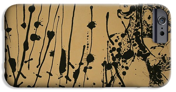 Cora Wandel iPhone Cases - Pollocks Number 7 -- 1951 iPhone Case by Cora Wandel