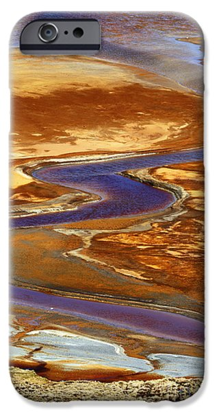 Water Pollution iPhone Cases - Pollution Patterns iPhone Case by James Brunker