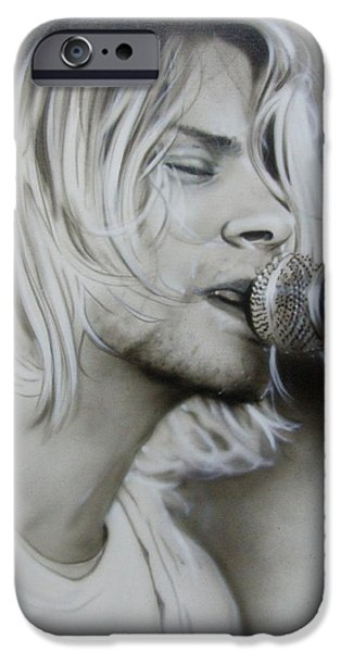 Musicians Framed Prints iPhone Cases - Polly iPhone Case by Christian Chapman Art