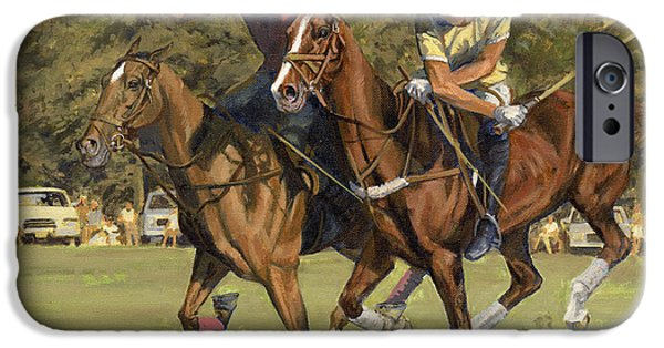 Horse Sport iPhone Cases - Polo Match iPhone Case by Don  Langeneckert
