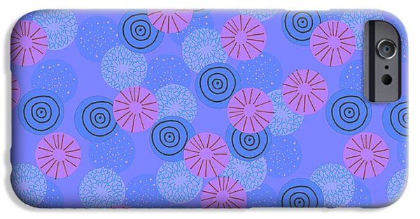 Patterns Paintings iPhone Cases - Pom Pom iPhone Case by Laurence Lavallee