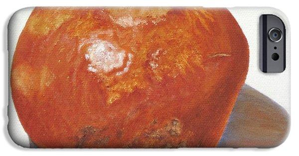 Pomegranate iPhone Cases - Pomegranate iPhone Case by Angeles M Pomata