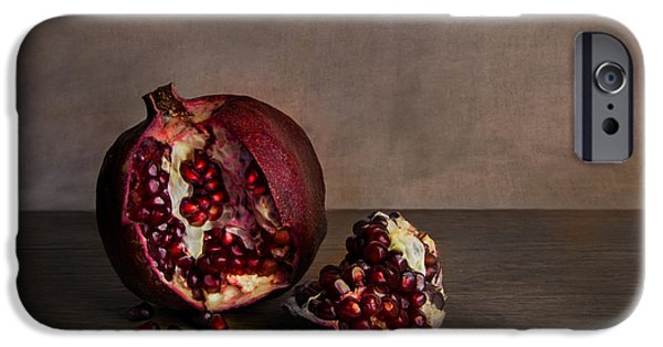 Ambition Photographs iPhone Cases - Pomegranate iPhone Case by Elena Nosyreva