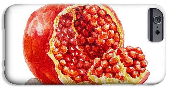 Pomegranate iPhone Cases - Pomegranate   iPhone Case by Irina Sztukowski