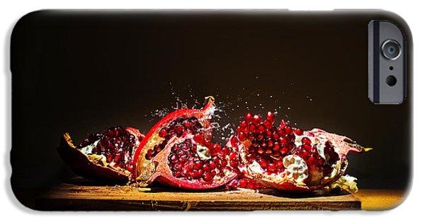 Pomegranate iPhone Cases - Pomegranate iPhone Case by Ivan Vukelic