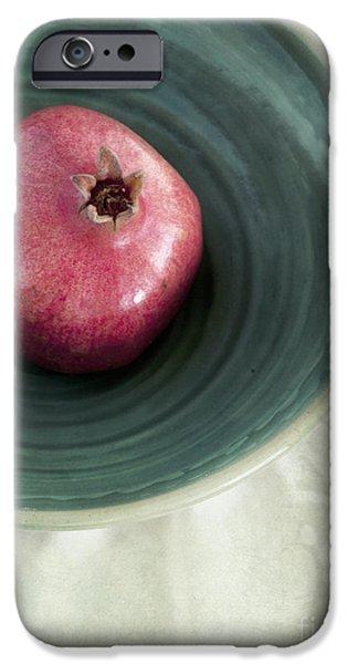 Stillife iPhone Cases - Pomegranate iPhone Case by Priska Wettstein