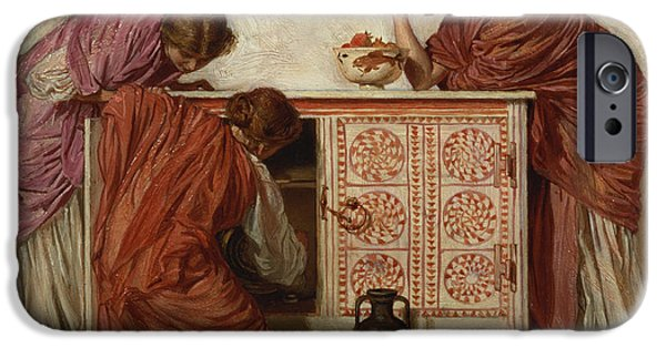 Pres iPhone Cases - Pomegranates, 1866 Oil On Canvas iPhone Case by Albert Joseph Moore