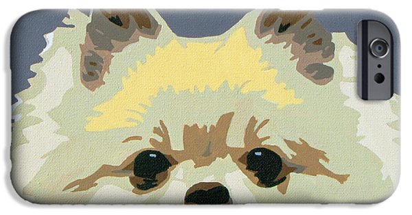 Slade Roberts iPhone Cases - Pomeranian iPhone Case by Slade Roberts