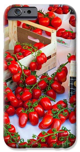 Vendor iPhone Cases - Pomodori Italiani iPhone Case by Inge Johnsson