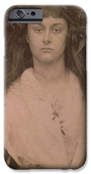 Alice iPhone Cases - Pomona iPhone Case by Julia Margaret Cameron