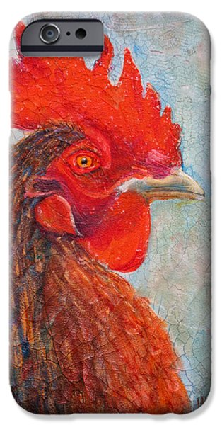 Yellow Beak Paintings iPhone Cases - Pompous iPhone Case by Mohamed Hirji