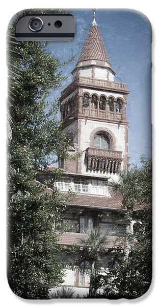 Balcony iPhone Cases - Ponce de Leon Hall iPhone Case by Joan Carroll