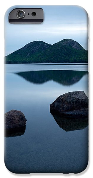 Jordan iPhone Cases - Pond At Dawn, Jordan Pond, Bubble Pond iPhone Case by Panoramic Images